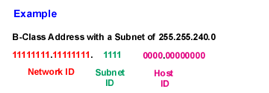 Network,  Subnet, and Host IDs
