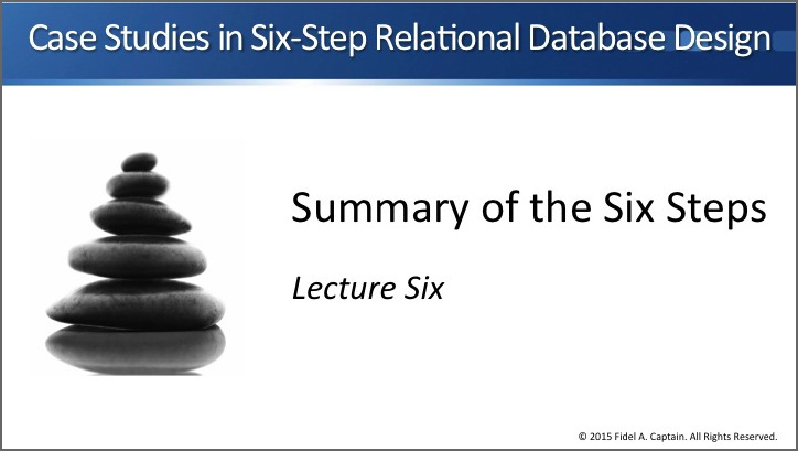 Summary of the six steps